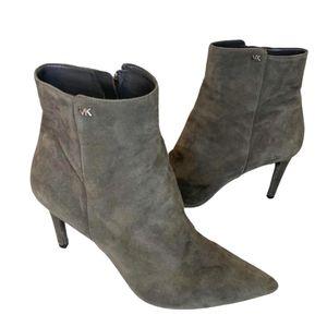 🎉MICHAEL KORS Grey heeled zip booties - 9